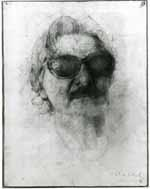Portrait of Ian Board, 1977/8; pencil on paper Private Collection formally in the collection of the late Miss Valerie Beston. © Michael Clark