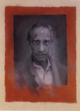 Seer, Portrait of Derek Jarman 1993; oil on card, The National Portrait Gallery. © Michael Clark